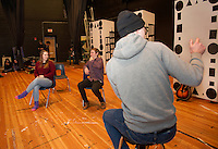 "Players Comedy Club rehearsal for ""A Fever of Creativity"" at Winnisquam Regional High School.  Karen Bobotas for the Laconia Daily Sun"