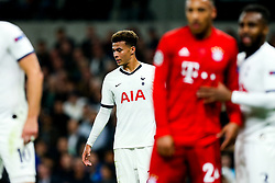 Dele Alli of Tottenham Hotspur looks frustrated - Rogan/JMP - 01/10/2019 - FOOTBALL - Tottenham Hotspur Stadium - London, England - Tottenham Hotspur v Bayern Munich - UEFA Champions League Group B.