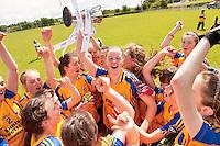 Clare U 14 who beat Sligo in the All ireland U14 C championship final in Kilkerrin-Galway Photo: Andrew Downes..