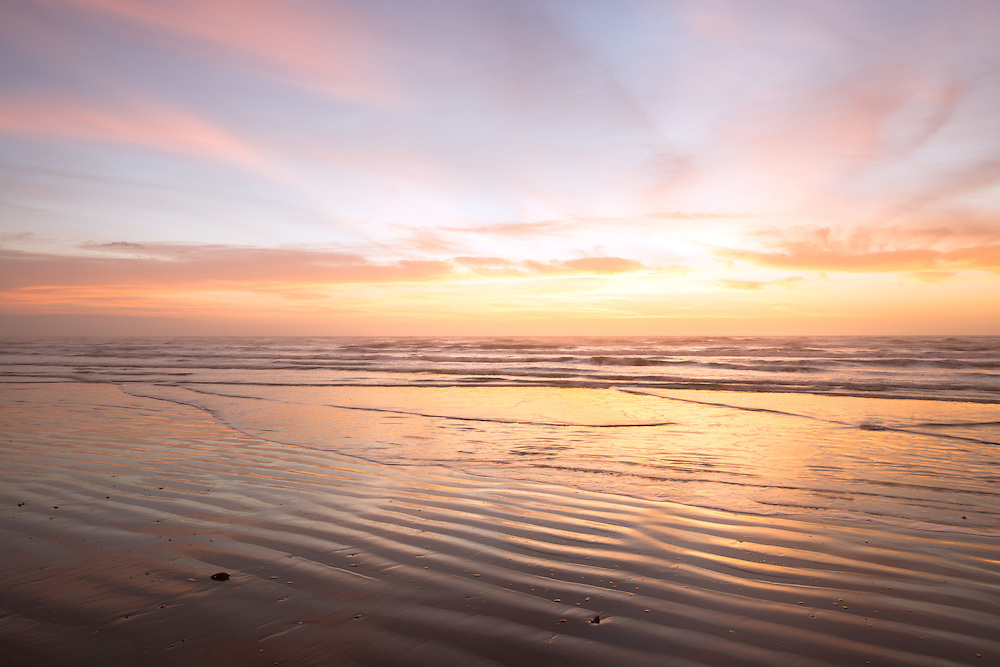 Sunrise over North Padre National Seashore, Texas.