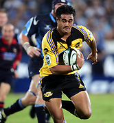 Hurricanes fullback Isaia Toeava in action during the Super 14 rugby union match between the Bulls and Hurricanes at Loftus Pretoria, South Africa, on Friday 17 March, 2006. The Hurricanes won the match 26-23. Photo: Africa Visuals/PHOTOSPORT **NZ USE ONLY**<br /> <br /> <br /> 149910