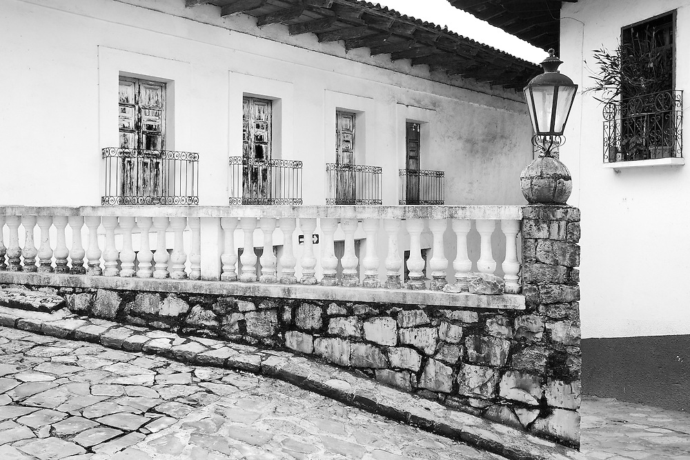 Layers of history and character in the streets of Cuetzalan, México.