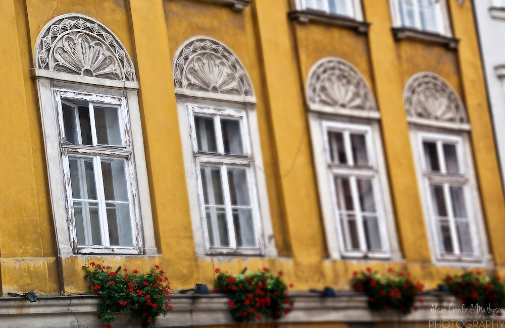 Detail of architecture in Krakow (Cracow), Poland