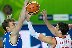 04.09.2013, Arena Bonifka, Koper, SLO, Eurobasket EM 2013, Russland vs Italien, im Bild Aleksey Shved #10 of Russia vs Nicolo Melli #9 of Italy // during Eurobasket EM 2013 match between Russia and Italy at Arena Bonifka in Koper, Slowenia on 2013/09/04. EXPA Pictures © 2013, PhotoCredit: EXPA/ Sportida/ Matic Klansek Velej<br /> <br /> ***** ATTENTION - OUT OF SLO *****