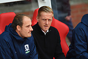 Middlesbrough manager Garry Monk during the EFL Sky Bet Championship match between Nottingham Forest and Middlesbrough at the City Ground, Nottingham, England on 19 August 2017. Photo by Jon Hobley.