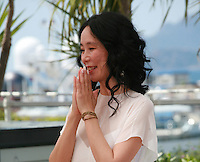 Director Naomi Kawase at the photo call for the film Still The Water (Futatsume No Mado), at the 67th Cannes Film Festival, Tuesday 20th May 2014, Cannes, France.