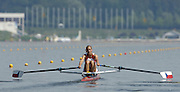 Poznan, POLAND.  2006, FISA, Rowing World cup, CZE W1X  Mirka KNAPKOVA, moves away from the start pontoon at the   'Malta Regatta course;  Poznan POLAND, Fri. 16.06.2006. © Peter Spurrier   ....[Mandatory Credit Peter Spurrier/ Intersport Images] Rowing Course:Malta Rowing Course, Poznan, POLAND