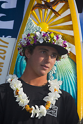 December 18, 2017 - Banzai Pipeline, HI, USA - BANZAI PIPELINE, HI - DECEMBER 18, 2017 - Vans Triple Crown of Surfing champion Griffin Colapinto at the Billabong Pipe Masters. (Credit Image: © Erich Schlegel via ZUMA Wire)