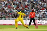 Ashton Aqar of Australia hits the ball to the boundary for four runs during the International T20 match between England and Australia at Edgbaston, Birmingham, United Kingdom on 27 June 2018. Picture by Graham Hunt.