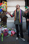 London 6th December 2013: Tributes pour in to the former South African leader and anti-apartheid ANC campaigner Nelson Mandela, who has died aged 95. Mandela made many friends in Britain, visiting many times - in the 60s to raise funds for his political struggle against the racist regime, then as President after 27 years imprisonment.