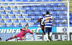 Brighton and Hove Albion's Chris O'Grady scores a penalty against Reading's Adam Federici - Photo mandatory by-line: Robbie Stephenson/JMP - Mobile: 07966 386802 - 10/03/2015 - SPORT - Football - Reading - Madejski Stadium - Reading v Brighton - Sky Bet Championship