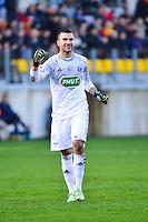 Joie Anthony LOPES - 04.01.2014 - Lens / Lyon - Coupe de France<br />Photo : Dave Winter / Icon Sport