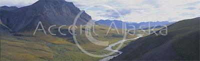 Alaska. ANWR. Brooks Range. Atigun Canyon at western edge of Arctic National Wildlife Refuge.