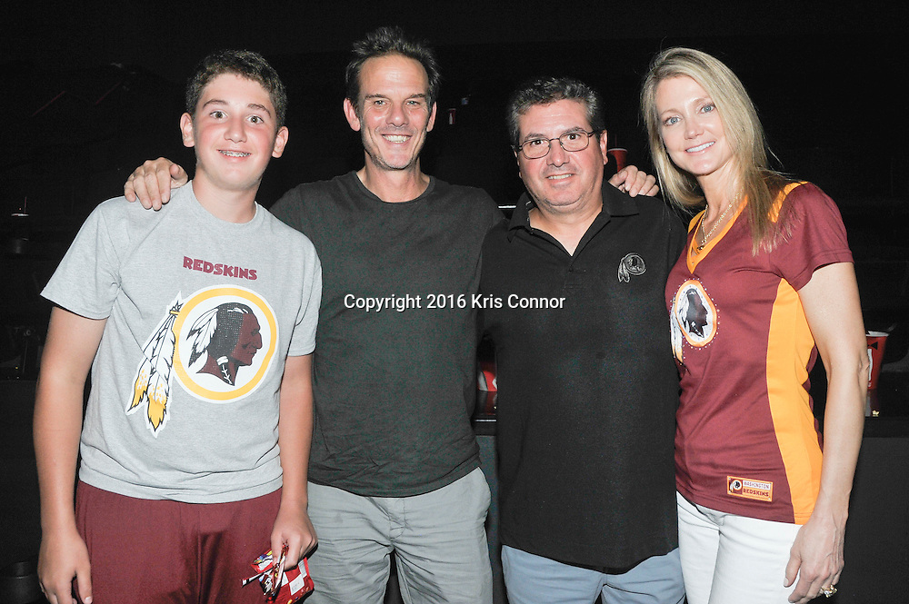 RICHMOND, VA - AUG 13: Washington Redskins Owner Dan Snyder with his family and director Peter Berg pose for a photo during a special screening for the Washington Redskins football team of Lions gate Entertainment's new movie Deepwater Horizon at Bow Tie Cinema on August 13, 2016 in Richmond, Va. (Photo by Kris Connor for Lions Gate Entertainment)