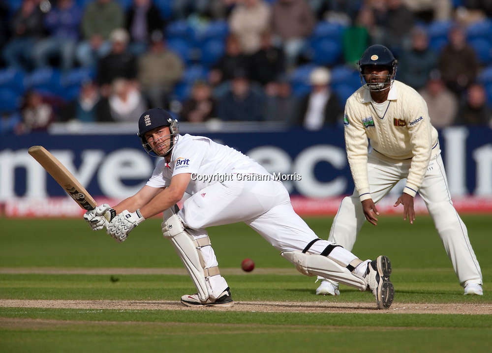 Jonathan Trott bats during the first npower Test Match between England and Sri Lanka at the SWALEC Stadium, Cardiff.  Photo: Graham Morris (Tel: +44(0)20 8969 4192 Email: sales@cricketpix.com) 28/05/11