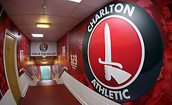 A general view inside the tunnel at The Valley home of Charlton Athletic - Mandatory by-line: Joe Dent/JMP - 21/08/2018 - FOOTBALL - The Valley - Charlton, London, England - Charlton Athletic v Peterborough United - Sky Bet League One