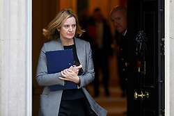 © Licensed to London News Pictures. 22/11/2016. London, UK. Home Secretary AMBER RUDD leaves Downing Street on Tuesday, 22 November 2016. Photo credit: Tolga Akmen/LNP