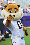 FORT WORTH, TX - SEPTEMBER 13:  Goldy Gopher of the Minnesota Golden Gophers looks on against the TCU Horned Frogs on September 13, 2014 at Amon G. Carter Stadium in Fort Worth, Texas.  (Photo by Cooper Neill/Getty Images) *** Local Caption *** Goldy Gopher