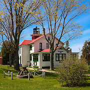 &quot;Grand Traverse Light&quot;<br /> <br /> Beautiful Grand Traverse Lighthouse in Northport Michigan, at Leelanau State Park!