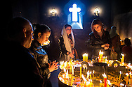 Armenians from around the world attended the Easter service at St. Gregory Cathederal in Yerevan, Armenia.