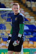 Mansfield Town goalkeeper Aidan Stone during the EFL Sky Bet League 2 match between Mansfield Town and Tranmere Rovers at the One Call Stadium, Mansfield, England on 12 September 2020. during the EFL Sky Bet League 2 match between Mansfield Town and Tranmere Rovers at the One Call Stadium, Mansfield, England on 12 September 2020. during the EFL Sky Bet League 2 match between Mansfield Town and Tranmere Rovers at the One Call Stadium, Mansfield, England on 12 September 2020.