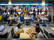 02 JULY 2018 - BANGKOK, THAILAND: The food court in MBK shopping mall in Bangkok. The food court has a concentration of Thai street food styles venders.  PHOTO BY JACK KURTZ