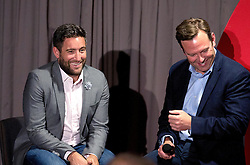 Bristol City head coach Lee Johnson and Bristol Sport Chief Operating Officer Mark Ashton on stage during the Lansdown Club event - Mandatory by-line: Robbie Stephenson/JMP - 06/09/2016 - GENERAL SPORT - Ashton Gate - Bristol, England - Lansdown Club -