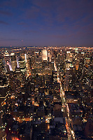 Evening view from the Empire state building in New York City October 2008