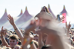 © Licensed to London News Pictures . 07/06/2014 . Heaton Park , Manchester , UK . Crowds as Katy B performs on the main stage at the Parklife music festival in Heaton Park Manchester as the sun comes out . Photo credit : Joel Goodman/LNP
