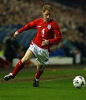 Fotball. Treningskamp. Landskamp.<br /> England v Italia, Elland Road, 27.03.2002.<br /> Nicky Butt, England og Manchester United.<br /> Foto: Robin Parker, Digitalsport