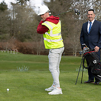 Chris Millar Testimonial Golf Day….<br />Chris Millar pictured at Auchterarder Golf Club who will be hosting his testimonial golf day pictured with sponsor Malclom Fyfe from MKM<br />Picture by Graeme Hart.<br />Copyright Perthshire Picture Agency<br />Tel: 01738 623350  Mobile: 07990 594431