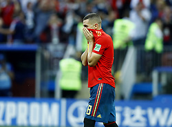 July 1, 2018 - Moscow, Russia - Round of 16 Russia v Spain - FIFA World Cup Russia 2018.The disappointment of Koke (Spain) after the missed penalty at Luzhniki Stadium in Moscow, Russia on July 1, 2018. (Credit Image: © Matteo Ciambelli/NurPhoto via ZUMA Press)