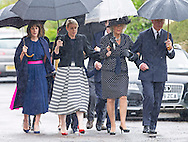 CAMILLA, DUCHESS OF CORNWALL AND PRINCE CHARLES<br /> attend the funeral of Mark Shand, camilla Brother who died in New York last week.<br /> Others attending the funeral included Tom and Laura Parker-Bowles (Camilla Children) sister Annabel and family,  as well as his daughetr Ayesha.<br /> Also present were Andrew Parker-Bowles, Camilla former husband and Annabel Goldsmith<br /> The funeral service was held at the  Holy Trinity Church, Stourpaine in Dorset_01/05/2014<br /> Mandatory Credit Photo: &copy;Francis Dias/NEWSPIX INTERNATIONAL<br /> <br /> **ALL FEES PAYABLE TO: &quot;NEWSPIX INTERNATIONAL&quot;**<br /> <br /> IMMEDIATE CONFIRMATION OF USAGE REQUIRED:<br /> Newspix International, 31 Chinnery Hill, Bishop's Stortford, ENGLAND CM23 3PS<br /> Tel:+441279 324672  ; Fax: +441279656877<br /> Mobile:  07775681153<br /> e-mail: info@newspixinternational.co.uk