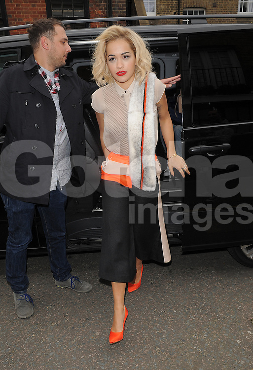 Singer Rita Ora at at The Edition Hotel in London, UK. 31/03/2014<br />