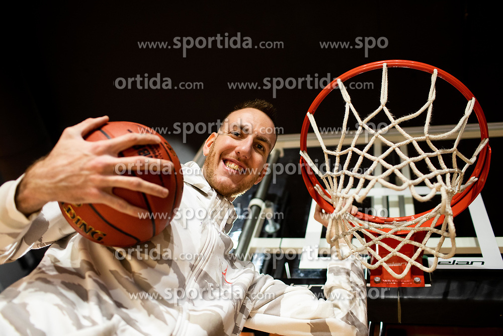 Portrait of Urban Gorjanc, former basketball player, when retired after treatment of Marfan syndrome, on December 6, 2019 in Grosbasket, Ljubljana, Slovenia. Photo by Vid Ponikvar/ Sportida