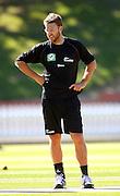 NZ captain Daniel Vettori.<br /> National Bank Test Match Series, New Zealand v England, Black Caps Nets Practice. Allied Prime Basin Reserve, New Zealand. Wednesday, 12 March 2008. Photo: Dave Lintott/PHOTOSPORT