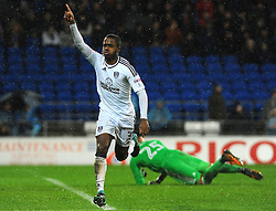 Ryan Sessegnon of Fulham celebrates his goal  - Mandatory by-line: Nizaam Jones/JMP- 26/12/2017 -  FOOTBALL - Cardiff City Stadium - Cardiff, Wales -  Cardiff City v Fulham - Sky Bet Championship