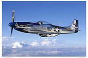"P-51D ""Moonbeam"", aerial photography"