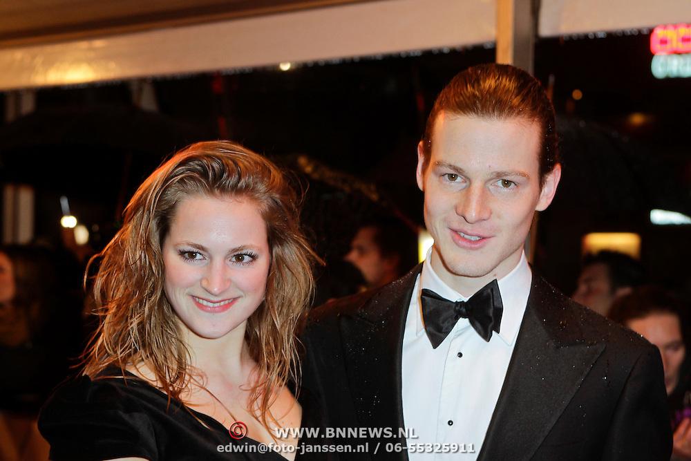 NLD/Amsterdam/20120213 - Filmpremiere Zombibi, Guido Spek en partner Desi van Doeveren