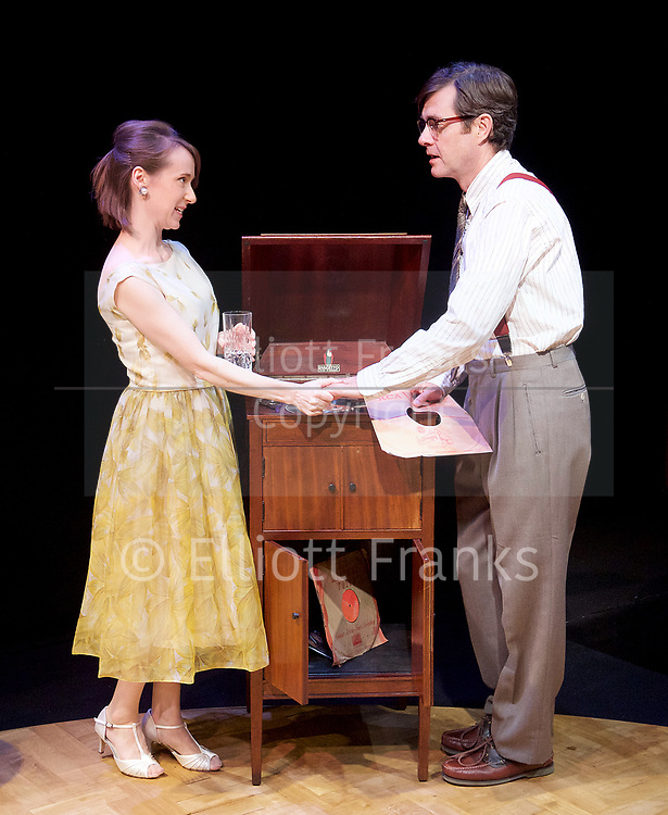 Twilight Song <br /> by Kevin Elyot <br /> Park Theatre, London, Great Britain <br /> Press photocall <br /> 13th July 2017 <br /> <br /> directed by Anthony Banks <br /> <br /> <br /> <br /> Bryony Hannah as Isabella <br /> <br /> Paul Higgins as  Basil <br /> <br /> <br /> <br /> <br /> <br /> <br /> Photograph by Elliott Franks <br /> Image licensed to Elliott Franks Photography Services