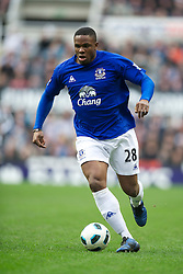 NEWCASTLE, ENGLAND - Saturday, March 5, 2011: Everton's Victor Anichebe in action against Newcastle United during the Premiership match at St. James' Park. (Photo by David Rawcliffe/Propaganda)