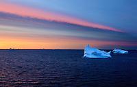 discobay; Greenland; iceberg; qeqertarsuaq; sunset