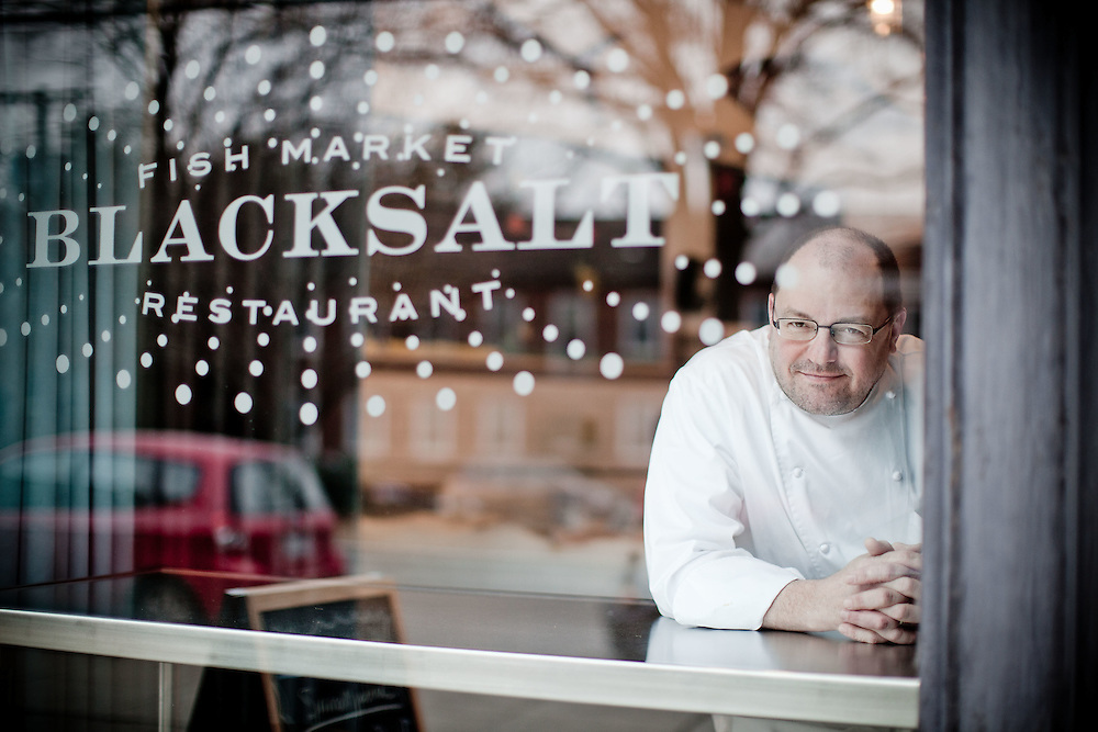Chef Geoff Black poses for a portrait at his restaurant Blacksalt in Washington, DC.