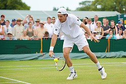 LONDON, ENGLAND - Monday, June 29, 2009: Tommy Haas (GER) during the Gentlemen's Singles 4th Round on day seven of the Wimbledon Lawn Tennis Championships at the All England Lawn Tennis and Croquet Club. (Pic by David Rawcliffe/Propaganda)