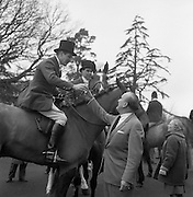 Kildare Foxhounds meet at Straffan House. A hunt club has existed in Kildare as far back as 1766..28.12.1966