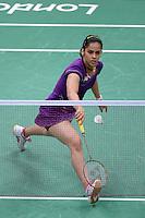 Saina Nehwal, India, Wins Bronze against Wang Xin China, Wang Xin out injured, Olympic Badminton London Wembley 2012