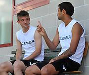 Arta Terme (UD), 27/07/2011.Campionato di calcio Serie A 2011/2012.Sergio Piccoli Neuton e il compagno Danilo..© foto di Simone Ferraro