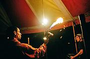 Fire torch under Marquee, Falougha, Lebanon, 2010