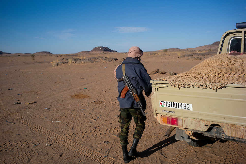 Western Sahara/Agounit 2016-10-15<br /> A Polisario soldier in Agounit, the head of the 7th military region in the Southeastern, Polisario controlled areas of Western Sahara.