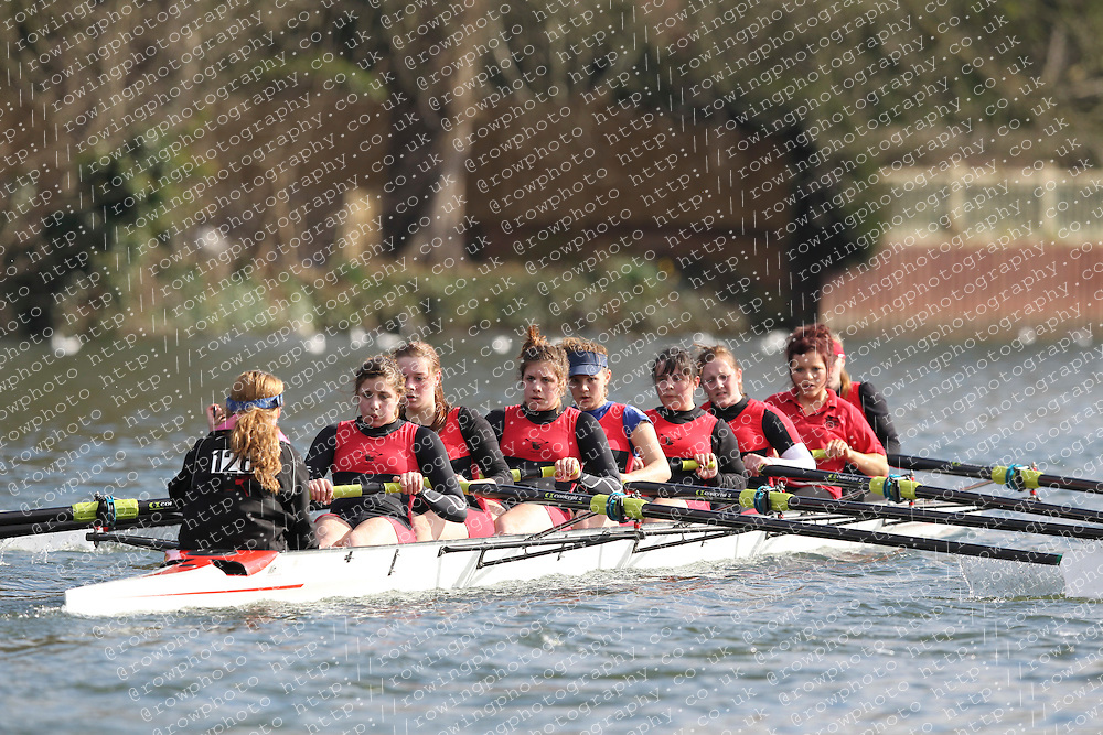 2012.02.25 Reading University Head 2012. The River Thames. Division 1. Greater Marlow School Boat Club WJ16A 8+